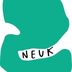 Image Description: Image shows the word Neuk handwritten in capitals, nestled inside a green abstract shape that appears to be enveloping and surrounding it.