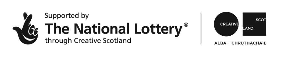 Logo for the National Lottery and Creative Scotland.